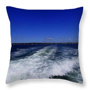 The Wake Of The Island Queen Throw Pillow