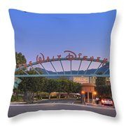 The Walt Disney Company In Burbank Ca. Sunset Throw Pillow