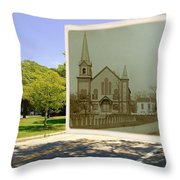 Third Methodist Church On The Commons In Little Compton Rhode Island Throw Pillow