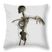 Three Dimensional View Of Female Throw Pillow