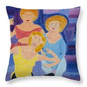 The Yoga Girls Throw Pillow by Don Larison