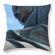 Tian Tan Buddha Throw Pillow