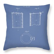 Tin Can Patent Drawing From 1878 Throw Pillow