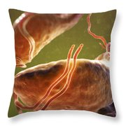 Trichomonas Vaginalis Throw Pillow