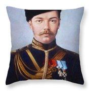 Tsar Nicholas II Of Russia Throw Pillow