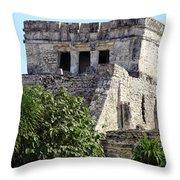 Tulum Ruins Mexico Throw Pillow