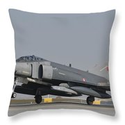 Turkish Air Force F-4 Phantom At Konya Throw Pillow