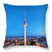 Tv Tower Or Fersehturm In Berlin Throw Pillow