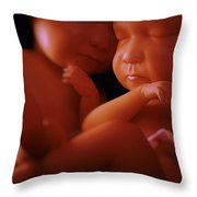 Twin Babies Throw Pillow