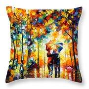 Under One Umbrella Throw Pillow by Leonid Afremov