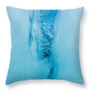 Underwater Crevasse In Thick Layer Of Floating Ice Throw Pillow