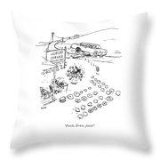 New Yorker September 7th, 2009 Throw Pillow