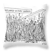 Declared Victory Garden Throw Pillow