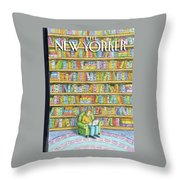 New Yorker October 18th, 2010 Throw Pillow