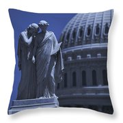 Us Capitol Peace Monument  Throw Pillow