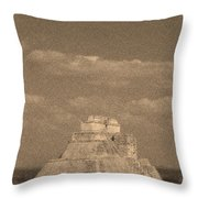 Uxmal Ruins Throw Pillow
