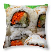 Vegetable Sushi Throw Pillow