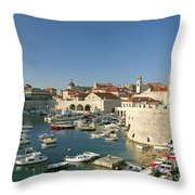 View Of Dubrovnik In Croatia Throw Pillow