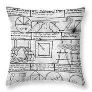 Villard De Honnecourt (fl Throw Pillow