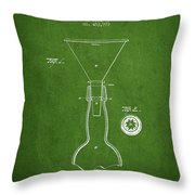 Vintage Bottle Neck Patent From 1891 Throw Pillow