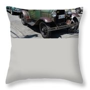 Vintage Cars Throw Pillow