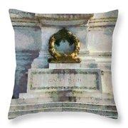 Vittorio Emanuele Monument In Rome Throw Pillow