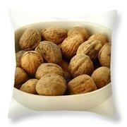Walnuts Throw Pillow