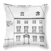 Washington Residence Throw Pillow