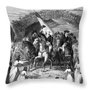 Washington Trenton, 1789 Throw Pillow