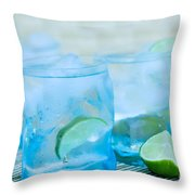 Water In Blue Throw Pillow