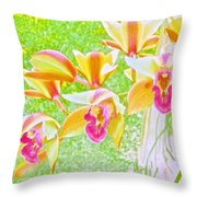 Laughing Watercolor Photography Throw Pillow
