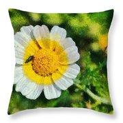 Wild Daisy Throw Pillow