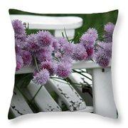 Wild Onion Flowers Throw Pillow