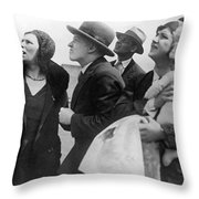 Willi Ruge Parachute Photos Throw Pillow
