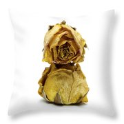 Wilted Rose Throw Pillow