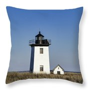 Wood End Lighthouse Throw Pillow