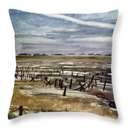 World War II: Normandy Throw Pillow