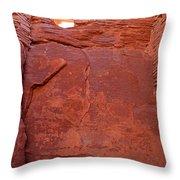Wupatki Pueblo In Wupatki National Monument Throw Pillow