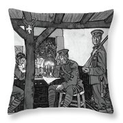 Wwi Soldiers, 1918 Throw Pillow