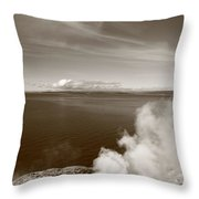 Yellowstone Lake And Geysers Throw Pillow