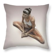 Yoga Bound Angle Pose Throw Pillow