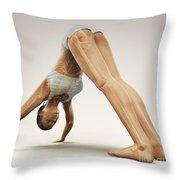 Yoga Downward Facing Dog Pose Throw Pillow