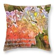 Zephaniah 3 17 Throw Pillow