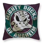 Anaheim Ducks Throw Pillow