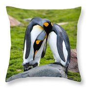 King Penguin Throw Pillow