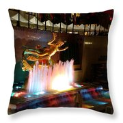30 Rock Fountain Throw Pillow