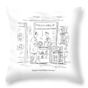 You Fix It By Buying A New One Throw Pillow