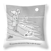 It's Sweet How Their Presences Linger Throw Pillow