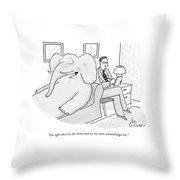 I'm Right There In The Room Throw Pillow