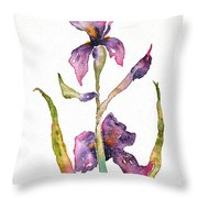 300 Lb Iris Throw Pillow
